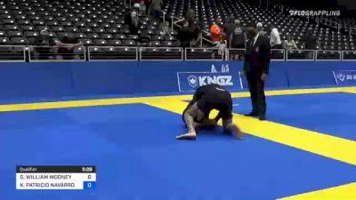 GREGORY WILLIAM MOONEY vs KRYZ PATRICIO NAVARRO 2021 World IBJJF Jiu-Jitsu No-Gi Championship