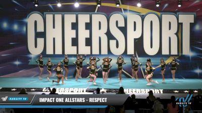 IMPACT ONE Allstars - RESPECT [2021 L4.2 Senior Day 1] 2021 CHEERSPORT: Charlotte Grand Championship