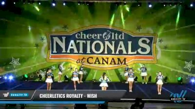 Cheerletics Royalty - WISH [2021 L6 Senior Open Day 1] 2021 Cheer Ltd Nationals at CANAM
