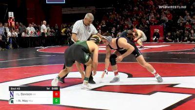197 lbs Prelims - Lucas Davison, Northwestern vs Nick May, Michigan State