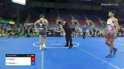 132 lbs Consi Of 8 #2 - Nathan Aguilar, California vs Elijah Paulson, Minnesota