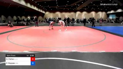 74 kg Semifinal - Daniel Patten, Cleveland Regional Training Center vs Peter Pappas, Edinboro Regional Training Center
