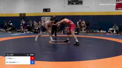 125 kg Consi Of 8 #2 - Zach Elam, Tiger Style Wrestling Club vs Mauro Correnti, Pennsylvania RTC