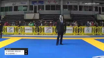ZACHARY MICHAEL WOLIVAR vs MATTHEW C KOPRA 2020 American National IBJJF Jiu-Jitsu Championship