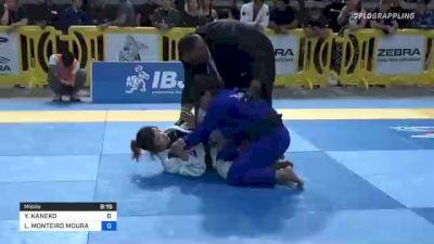 YUKI KANEKO vs LUIZA MONTEIRO MOURA DA COSTA 2021 Pan Jiu-Jitsu IBJJF Championship