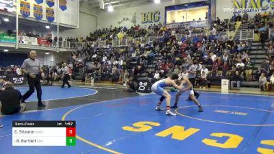 138 lbs Semifinal - Chanz Shearer, Seneca Valley vs Beau Bartlett, Wyoming Seminary