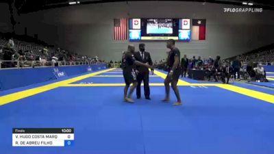 VICTOR HUGO COSTA MARQUES vs ROBERTO DE ABREU FILHO 2021 World IBJJF Jiu-Jitsu No-Gi Championship