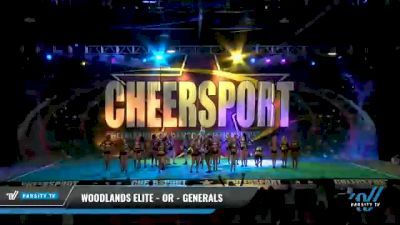 Woodlands Elite - OR - Generals [2021 L6 Senior - Medium Day 1] 2021 CHEERSPORT National Cheerleading Championship