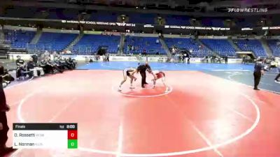 152 lbs Final - Dominic Rossetti, New England vs Lorenzo Norman, NJ/NY