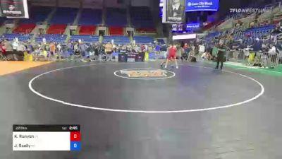 220 lbs Quarterfinal - Kalob Runyon, Iowa vs Joey Scally, Ohio