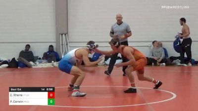 133 lbs Prelims - Cole Rhone, VT Unattached vs Parker Corwin, Presbyterian