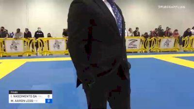 IGOR NASCIMENTO DA COSTA FELIZ vs MATTHEW AARON LEGG 2020 Atlanta International Open IBJJF Jiu-Jitsu Championship