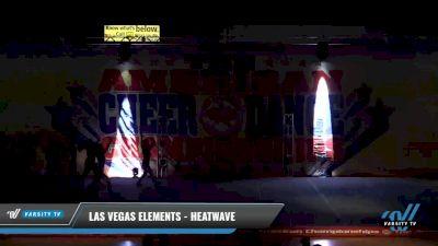 Las Vegas Elements - Heatwave [2021 L4 Junior - D2 - Small Day 2] 2021 The American Celebration DI & DII