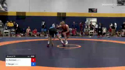 74 kg Round Of 16 - Kasper McIntosh, Gopher Wrestling Club - RTC vs Tyler Berger, Sunkist Kids Wrestling Club