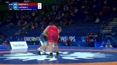 130 kg Round Of 16 - Razmik Kurdyan, ARM vs Luke Andrew Luffman, USA