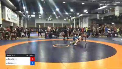 57 kg Prelims - Jonathan Gurule, 505 Wrestling Club vs Jeremiah Reno, Nebraska Wrestling Training Center