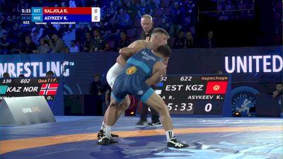 82 kg Repechage #3 - Ranet Kaljola, Estonia vs Kalidin Asykeev, Kyrgyzstan