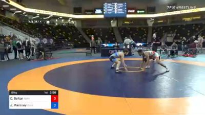61 kg Consolation - Cleveland Belton, Sunkist Kids Wrestling Club vs Jaxon Maroney, Pennsylvania RTC