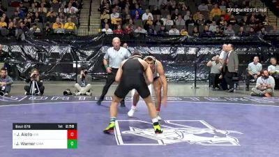 197 lbs Semifinal - Jay Aiello, Virginia vs Jacob Warner, Iowa