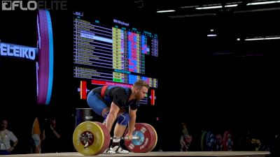 Wes Kitts Clean & Jerks 210kg At 2017 IWF Worlds