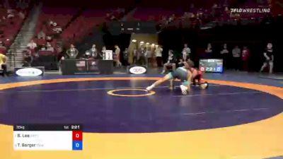 70 kg Consi 4 - Brayton Lee, Gopher Wrestling Club - RTC vs Tyler Berger, TMWC / California RTC