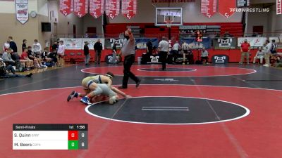 132 lbs Semifinal - Smith, Quinn, Spring-Ford vs Mike Beers, Central Dauphin
