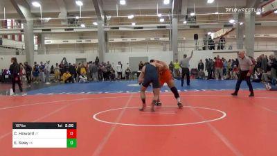 Semifinal - Cody Howard, Virginia Tech vs Elijah Seay, King University