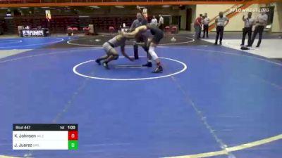 152 lbs 5th Place - Karter Johnson, Mile High Wrestling Clib vs James Juarez, Driller Wrestling Club