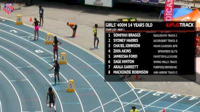 Girls' 400m, Final - Age 14 - Cha'iel Johnson 54.28