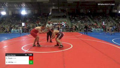 285 lbs Consolation - Chris Ryan, Perry Youth Wrestling vs Derek White, East Tulsa Cardinals