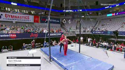 Sam Mikulak - Still Rings, U.S.O.P.T.C. - 2021 US Championships Senior Competition International Broadcast