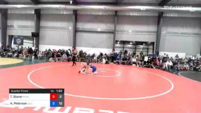 40 kg Quarterfinal - Tas Storer, Poway Elite vs Haakon Peterson, Sebolt Wrestling Academy