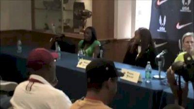 Women's USA vs World Pre Race Press Conference Penn Relays 2011