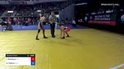 113 kg Quarterfinal - Isa-Bella Mendoza, Missouri vs Audrie Felkins, Maize Kids Wrestling Club