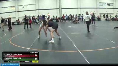 140 lbs Cons. Semi - Enrique Sanchez, Florida vs Connor Goodman, North Carolina
