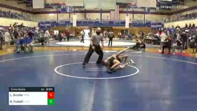 106 lbs Consolation - Levi Snyder, Spring Grove vs Rocco Fratelli, Northern York