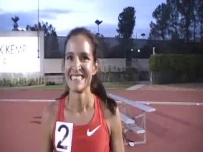 Lisa Aguilera just misses A standard 9:43 1st steeple USATF High Performance Meet 2011
