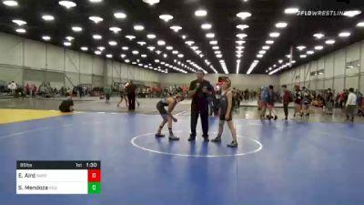 95 lbs Semifinal - Seth Mendoza, Region Wrestling Academy vs Ethan Aird, Sarbacker Wrestling Academy