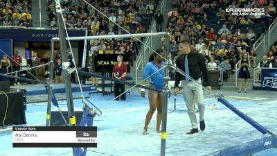 Nia Dennis - Bars, UCLA - 2019 NCAA Gymnastics Ann Arbor Regional Championship