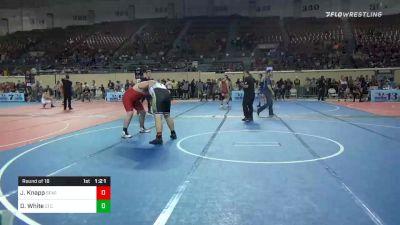 285 lbs Prelims - Jesse Knapp, StandFast Wrestling vs Derek White, East Tulsa Cardinals