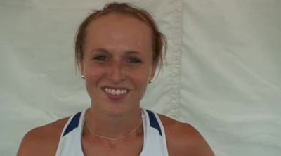 Rebeka Stowe after steeple 2011 USATF Outdoor Track & Field Championships