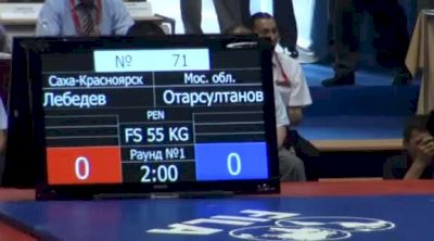 55 lbs finals Victor Lebedev vs. Otarsultanov