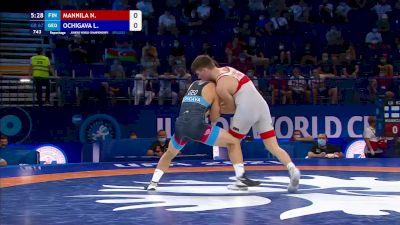 67 kg Repechage #3 - Nestori Kalle Mannila, Finland vs Luka Ochigava, Georgia