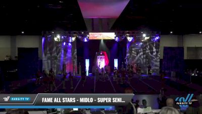 FAME All Stars - Midlo - Super Seniors [2021 L6 Exhibition (Cheer) Day 2] 2021 Queen of the Nile: Richmond