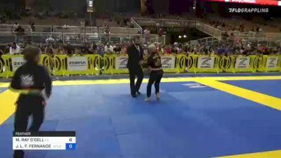 MASON RAY O'DELL vs JORGE L. F. FERNANDES 2021 Pan Kids Jiu-Jitsu IBJJF Championship