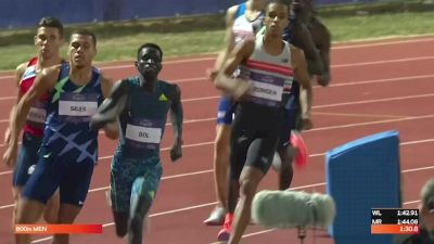 Men's 800m - Close Finish With Four Men In Contention