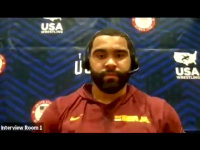 Gable Steveson (125 kg) after semifinal win at 2021 Olympic Trials