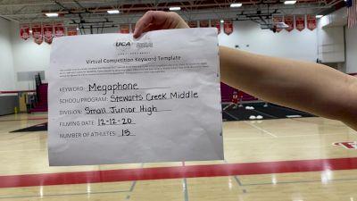 Stewarts Creek Middle School [Small Junior High] 2020 UCA Virtual Regional