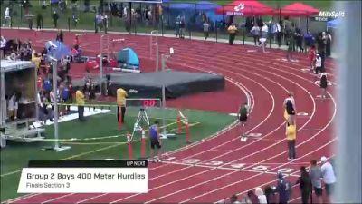 High School Boys' 400m Hurdles Group 2, Finals 3