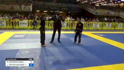 NICO GIOVANNI IANELLI vs JERMAINE TAYLOR VALEROS 2021 Pan Kids Jiu-Jitsu IBJJF Championship